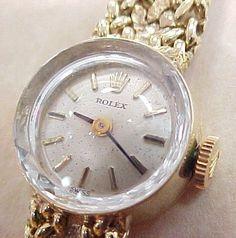 Vintage Rolex - Elegant Ladies 14k Gold Wristwatch found on Ruby Lane