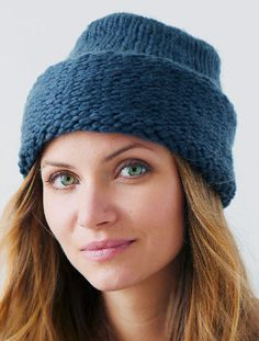 Free Knitting Pattern for Priyome Hat - This easy hat uses just one ball of the recommended super bulky yarn. Designed by Emily Nora O'Neil