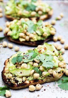 take your avocado toast to a new level with cilantro and chickpeas