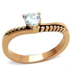 CJG2159 Stainless Steel AAA Grade CZ Ring