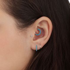 Turquoise Horizontal Eternity Clicker || Shop this Instagram from @maria_tash || http://www.venusbymariatash.com/14g-38-turquoise-horizontal-eternity-clicker-daith.html?optionId=468