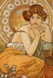 Art Needlepoint Alfons Mucha is known for his graceful women and ...