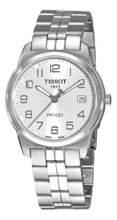 Tissot Men's T0494101103201 PR 100 Silver Dial Bracelet Watch Tissot. $195.75. Quartz movement. Silver Arabic numerals dial. Water-resistant to 330 feet (100 M). Stainless steel bracelet. Push button deployant clasp