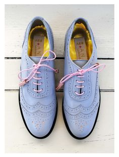 ABO + Ana Ljubinkovic grey- violet brogues #abo #abo+analjubinkovic #shoes #brogues #oxfords #pastel
