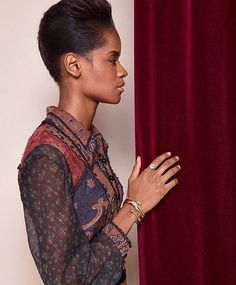 Letitia Wright photographed by Iakovos Kalaitzakis for Magnify Magazine Letitia Wright, French New Wave, Dapper Men, Pretty Black, Naomi Campbell, Messy Hairstyles, Black Panther, Leather And Lace, American Actress