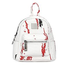 Yoins White Croc Leather-look Mini Backpack with Decorative Detailing (€33) ❤ liked on Polyvore featuring bags, backpacks, backpack, yoins, white, crocodile leather bag, crocodile backpack, mini bag, crocodile skin bag and crocodile leather backpack