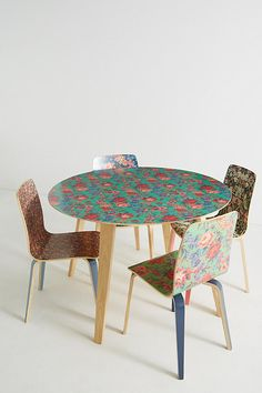 Slide View: Liberty for Anthropologie Tamsin Dining Table Liberty Home, Printed Sofa, Dinning Set, Dining Chairs, Dining Table, Elements Of Design, Floral Pillows, Swivel Chair, Table Linens