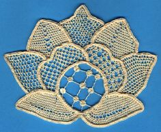 Needle Lace | needle lace flower - pattern from Nenia Lovesey