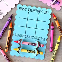 Tic Tac Toe Valentine's Day Cards – Use your awesome Cricut to make these Valentine's Day Cards. A fun and easy Valentine's Day craft. Now that all the Christmas decorations are put away, it's officially time to start sharing Valentine's Day crafts. Next to Christmas and the 4th of July, this is my favorite holiday....Read More » Happy Valentines Day Cards, Valentine Gifts Ideas, Valentines Day Kid Crafts, Diy Valentine Decorations, Valentine Day Boxes, Valentines Day Party, Valentine Day Special, Valentines Day Activities, Christmas Decorations