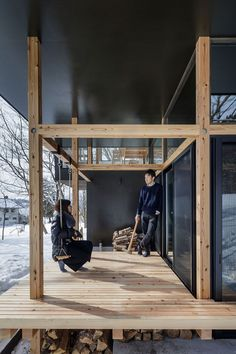 Nojiri-ko Nature Platforms, Ferienhaus am See in Japan von Sugawaradaisuke Architects – Journal of Design Timber Architecture, Architecture Details, Pavilion Architecture, Sustainable Architecture, Residential Architecture, Contemporary Architecture, Contemporary Interior, Cabin Design, House Design