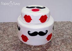 mustache-lips-fondant-baby-shower-cake by imtopsyturvy.com, via Flickr