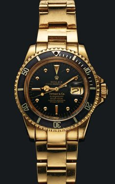 In a special excerpt from Matt Hranek's A Man and His Watch we learn about Sylvester Stallone and his Tiffany & Co Rolex Submariner. Amazing Watches, Beautiful Watches, Cool Watches, Gold Rolex, Rolex Watches For Men, Luxury Watches For Men, Men's Watches, Rolex Submariner, Rolex Gmt