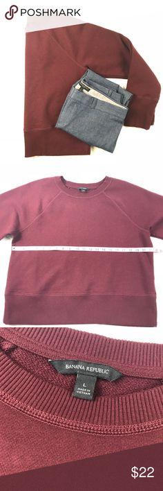 NWOT Banana Republic sweatshirt, large Perfect condition and super cozy! Banana Republic Tops Sweatshirts & Hoodies