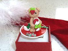 Japanese Kawaii Ring  Miniature Bear with by OishisoBitsAndBites, $14.00