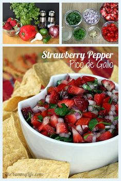 Strawberry and Red Pepper Pico de Gallo  http://www.theyummylife.com/pico_de_gallo
