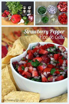 Strawberry Pepper Pico de Gallo