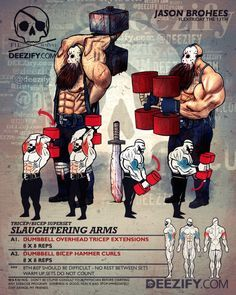 Slaughtering Arms - Savage Guide To Big Arms #FlexFriday #ArmDay #gainz #GunShow #bodybuilding