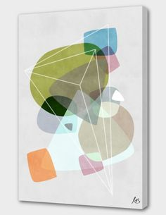 """""""Graphic 119"""", Numbered Edition Canvas Print by Mareike Böhmer - From $69.00 - Curioos"""