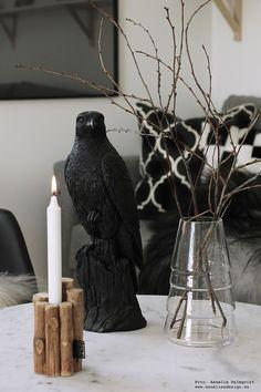 annelies design, falk, fågel, vako, vas, smaelta, ljusstake, Oohh, inredning, dekoration
