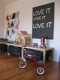 Movel com caixas para brinquedos