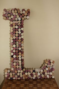 Customized Handmade Vintage Wine Cork Letter - Large Size - We Have E…