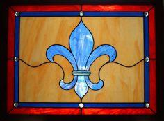 Fleur-de-lis  Opalescent Stained Glass Window