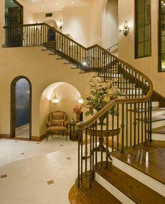 Colletti Design - Iron Staircase Railing  #iron work #wrought iron #ornamental iron #iron railing #estate #staircase railing