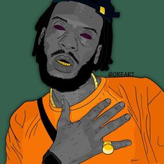 Arte que fiz do Rapper/mc BK #bk #nectargang #piramideperdida #blocosete #rap #raprj #desenho #arte #ilustraçãoderap