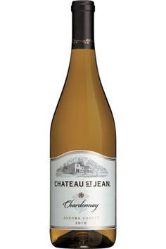 Château St Jean Chardonnay. Aromatique et rond. Chateau St Jean, Cocktails, Saints, Wine, Bottle, Food Bank, White Wines, Spring, Craft Cocktails