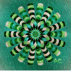 #colorfy #mandala #green #glass