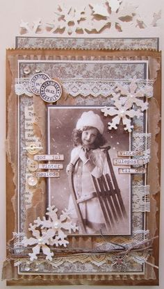 Julekort (Christmas card) by Anne Gro at Min Lille Scrappe-verden.  Beautiful!