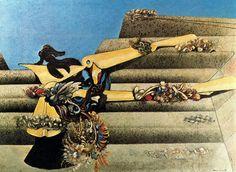 Garden Airplane Trap by Max Ernst, 1936 Statues, Karl Hofer, Hans Thoma, Dada Movement, George Grosz, Degenerate Art, Surrealism Painting, Scenic Design, Art Database