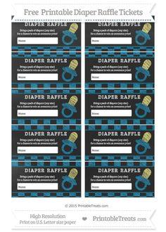 Free Cerulean Blue Checker Pattern  Chalk Style Baby Pacifier Diaper Raffle Tickets