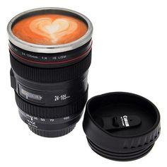Camera Lens Coffee Mug / Cup / Thermos with Drinking Lid & Quality Stainless Steel Interior-24-105mm -black BinnBox http://www.amazon.ca/dp/B00BYORFBI/ref=cm_sw_r_pi_dp_dXtlub14NJY21
