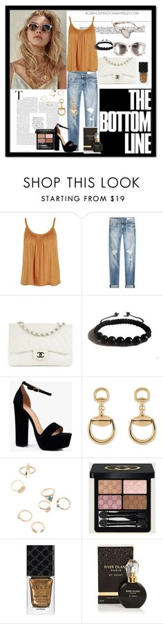 """""""All fashion"""" by fashgirl-793 ❤ liked on Polyvore featuring Whiteley, Topshop, rag & bone, Chanel, Shamballa Jewels, Boohoo, Gucci, River Island and Quay"""