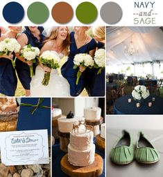 navy and sage fall wedding color ideas 2014