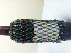 Beaded wine bottle cover 2013.