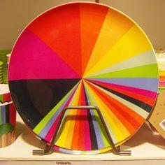 Habitat, rainbow plate