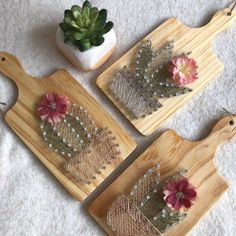 String Wall Art, Nail String Art, String Crafts, Arts And Crafts Projects, Diy Crafts For Kids, String Art Patterns, Cactus Wall Art, Kitchen Wall Art, Kitchen Decor
