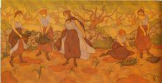 Cinq femmes à la récolte, Paul-Elie Ranson, 1895