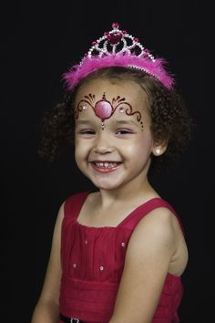 Pretty princess face paint
