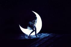 Girl in the moon...