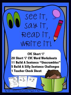 This no prep, print and go activity will have your students enjoying working on their CVC words. Students will be prompted to look at the picture, say the word, read the word and finally to write the word.