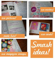 Just a few ways you can use your smash book! (Can you tell I am addicted?)