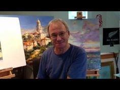 James Pratt Online Palette Knife Painting Academy,  TRAILER for Basics Of Palette Knife Painting
