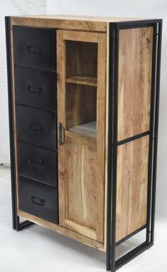 90 x 45 x 148 Storage Cabinets, Tall Cabinet Storage, Locker Storage, Modern Industrial Furniture, Grey Kitchens, New Room, Cupboard, Furniture Design, House Styles