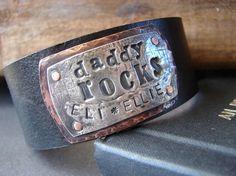 Leather cuff - LOVE