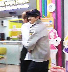 Jungkook arresting Taehying gif