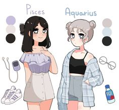 Drawing Anime Clothes, Anime Girl Drawings, Art Drawings Sketches, Cool Drawings, Arte Do Kawaii, Kawaii Art, Cute Art Styles, Cartoon Art Styles, Character Art