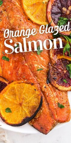 Orange Glazed Salmon Recipe - so much flavor, and can be made keto! Orange Glazed Salmon, My Favorite Food, Favorite Recipes, Clean Eating, Healthy Eating, Good Food, Yummy Food, Baked Salmon, Paleo